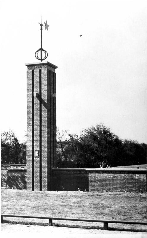 Esperanto-Denkmal, Den Burg um 1935