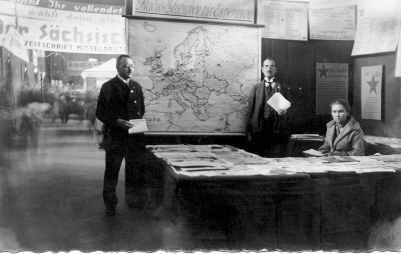 Esperanto-Stand bei der Großen Dresdner Funkausstellung 1927