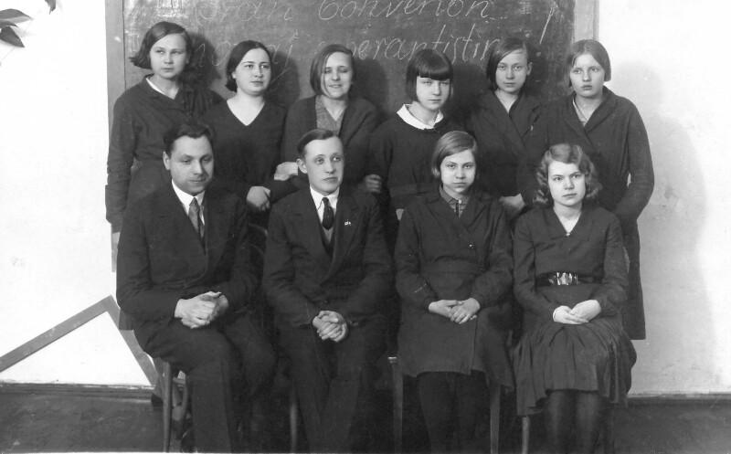 Esperanto-Unterricht am Gymnasium, Valga 1932