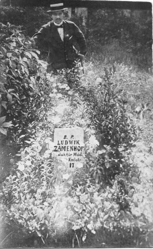 Provisorischer Grabstein von Ludwik L. Zamenhof, Warschau 1917