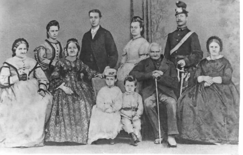 Familienfoto mit Julius Lott, um 1868