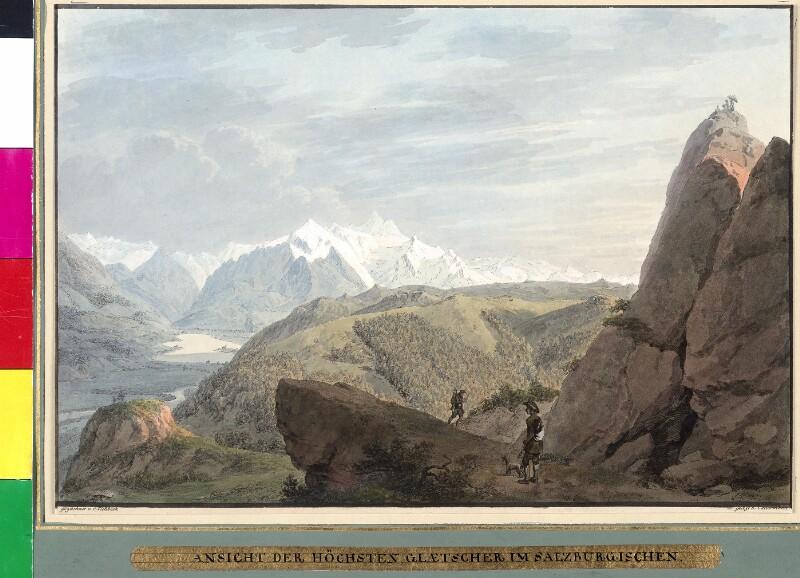 Ansicht der höchsten Gletscher im Salzburgischen