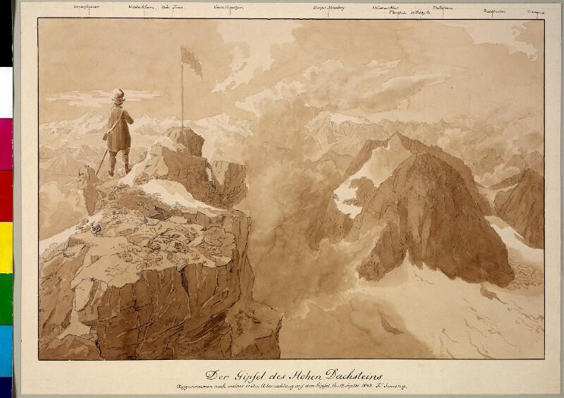 Der Gipfel des Hohen Dachstein, 1843