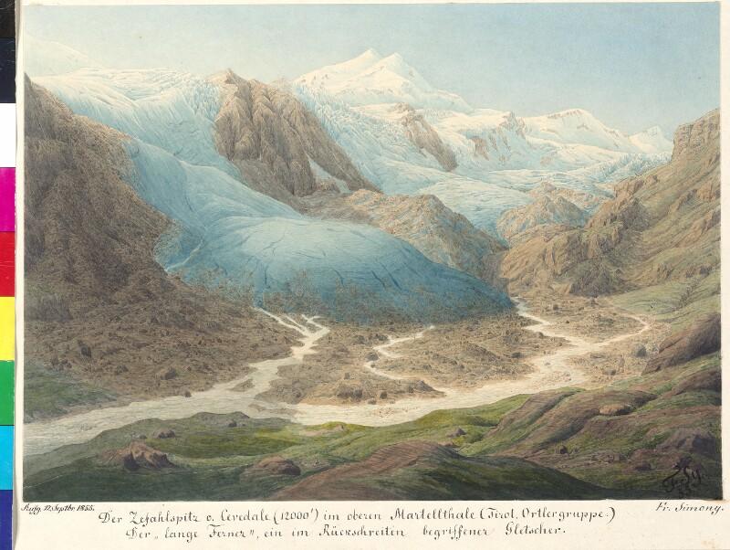 Die Zefahlspitze im oberen Martelltal (Tirol, Ortlergruppe), 1855