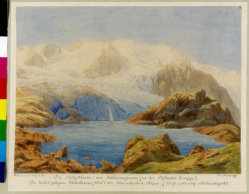 Die untere 'Spitzätlacke' am Salurnerferner, 1855