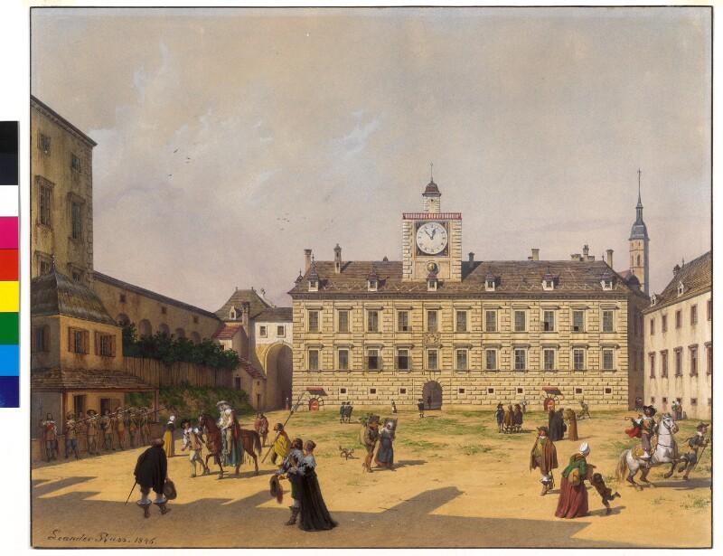 Die Innere Burghof in Wien 1652
