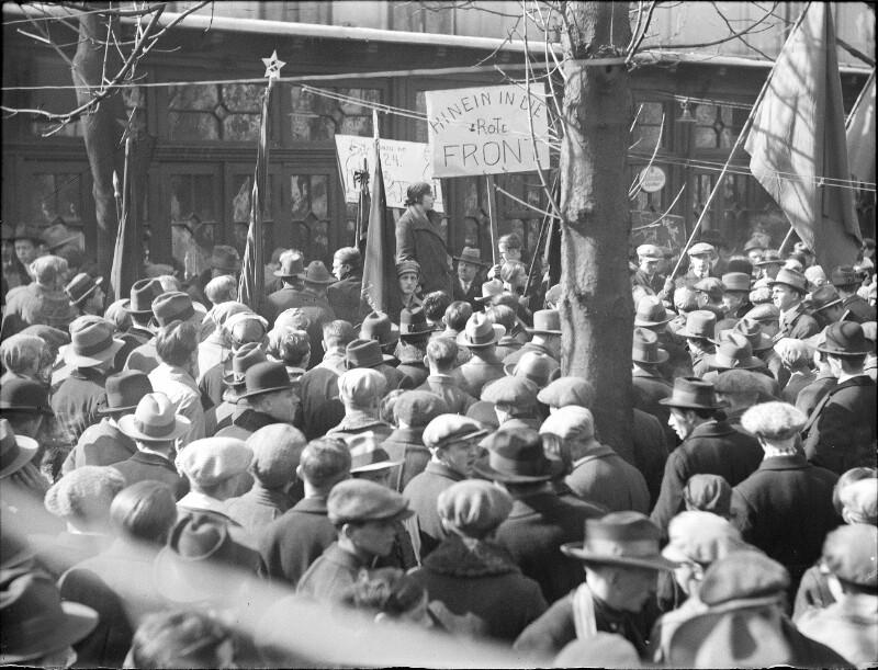 Demonstration von Kommunisten