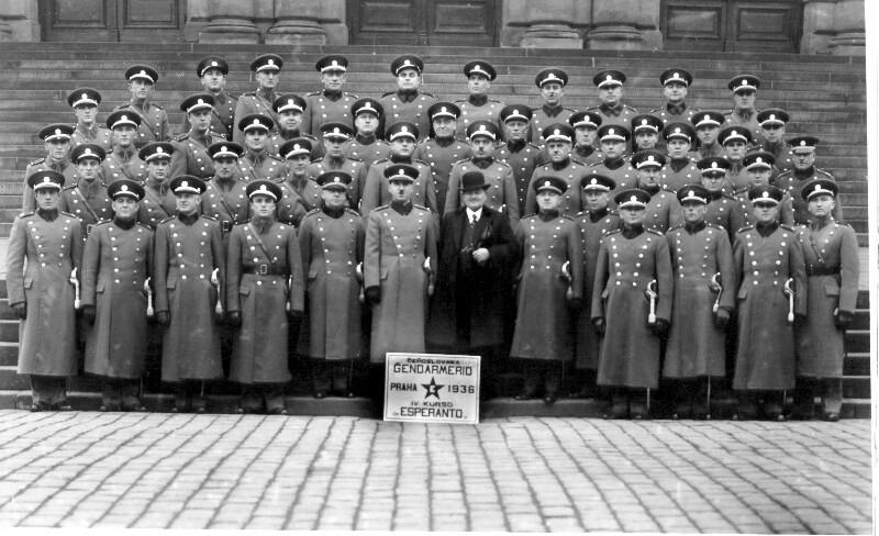 4. Esperanto-Kurs für tschechoslowakische Polizisten, Prag 1936