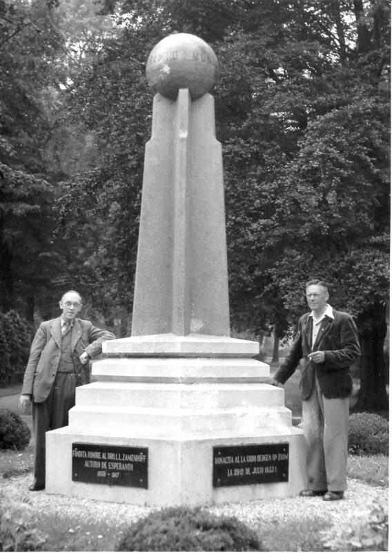 Esperanto-Denkmal, Bergen op Zoom 1947