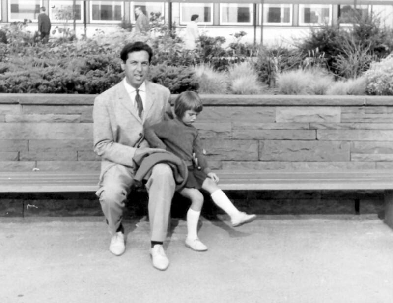 József Kondor mit Tochter Bernadette, 1964