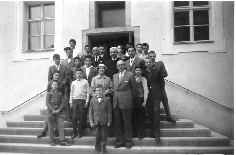 Janos Hamvai besucht das Ungarische Gymnasium in Kastl, 1960