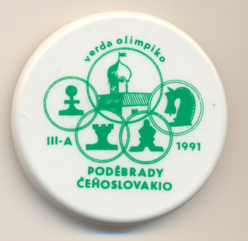 Abzeichen: III-a Verda Olimpiko, Podebrady Ĉeĥoslovakio 1991