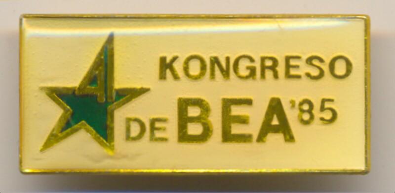 Abzeichen: 4. Kongreso de BEA '85