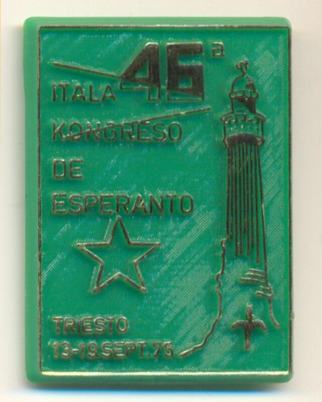 Abzeichen: 46a Itala Kongreso de Esperanto, Triesto, 13-19. sept. 75