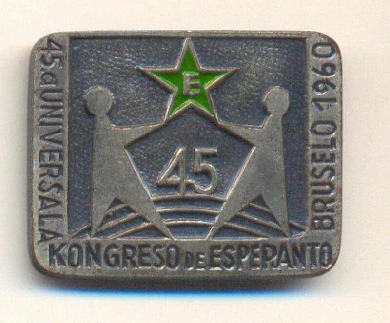 Abzeichen: 45a Universala Kongreso de Esperanto, Bruselo 1960