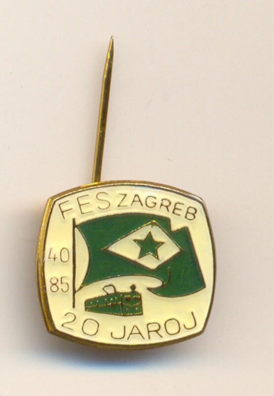 Abzeichen: FES Zagreb - 20 jaroj