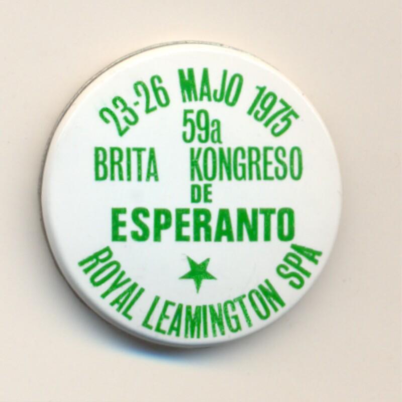 Abzeichen: 59a Brita Kongreso de Esperanto, Royal Leamington Spa, 23-26 majo 1975