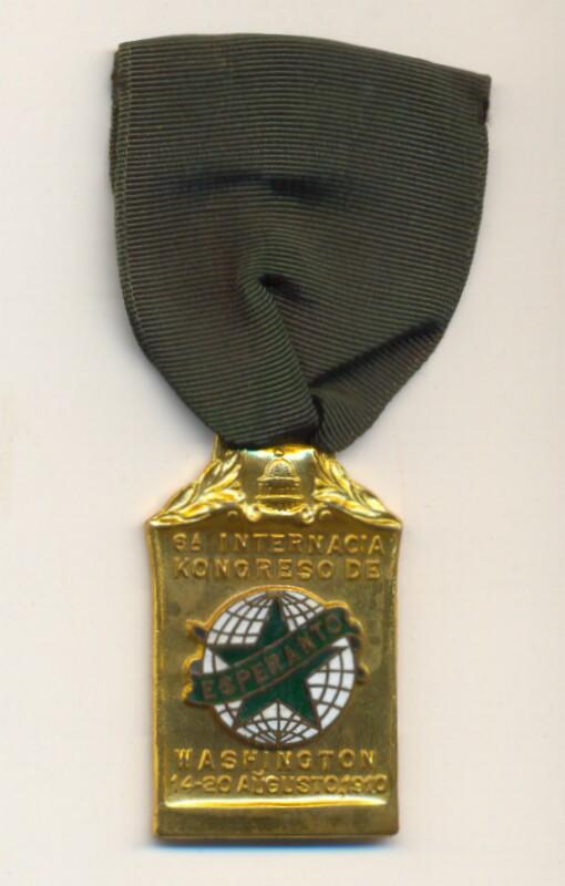 Abzeichen: 6a Internacia Kongreso de Esperanto, Washington, 14-20 augusto 1910