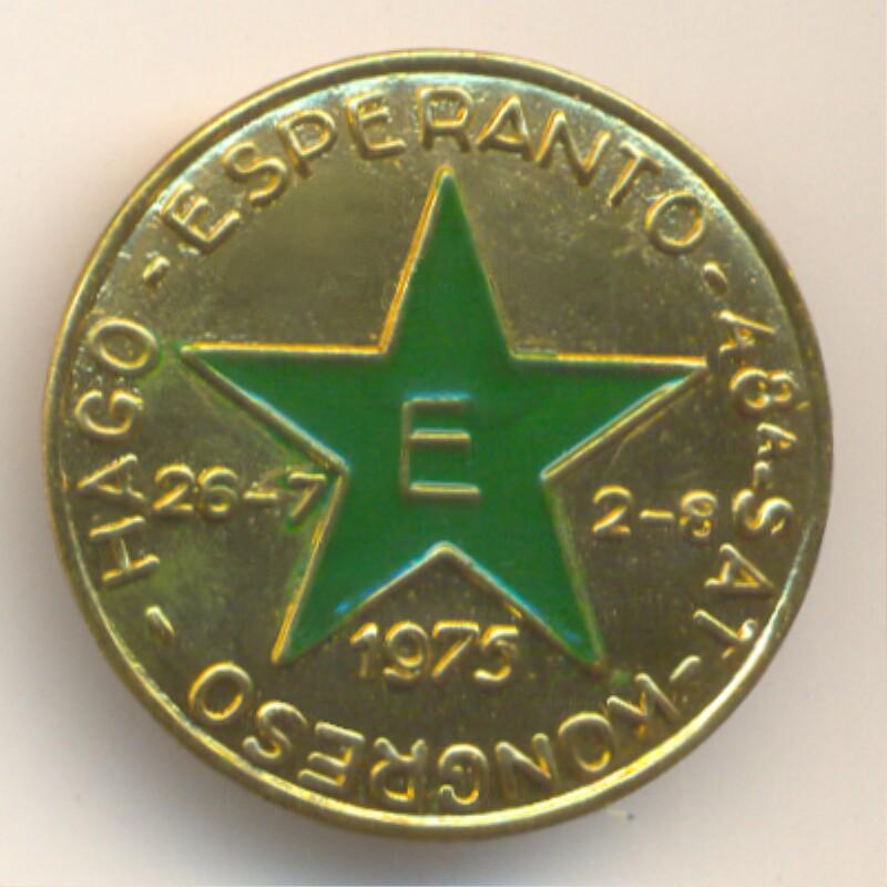 Abzeichen: 48a SAT-Kongreso, Hago 1975, Esperanto