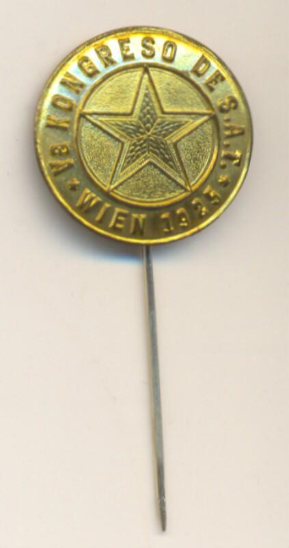 Abzeichen: Va Kongreso de S.A.T., Wien 1925