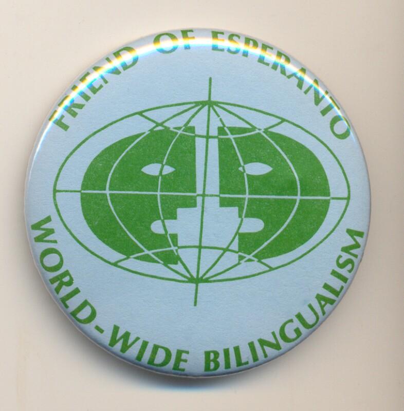Abzeichen: Friend of Esperanto, world-wide bilingualism