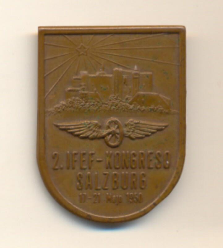 Abzeichen: 2. IFEF-Kongreso, Salzburg, 17.-21. majo 1950