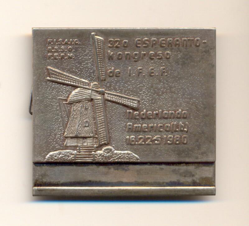 Abzeichen: 32a Esperanto-kongreso de I.F.E.F., Nederlando, America (Lb.), 16.-22.5.1980