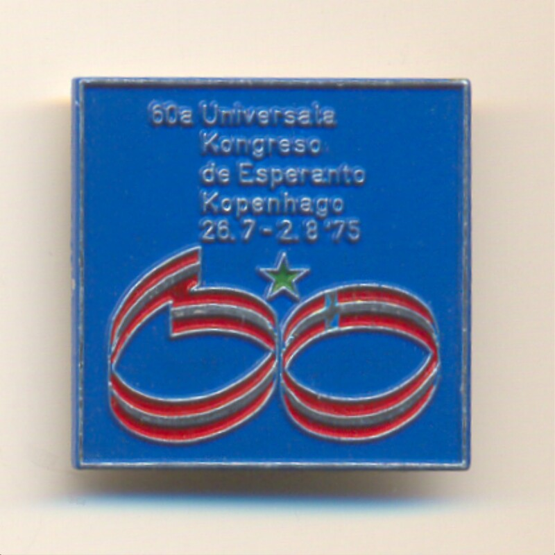 Abzeichen: 60a Universala Kongreso de Esperanto, Kopenhago, 26.7.-2.8.'75