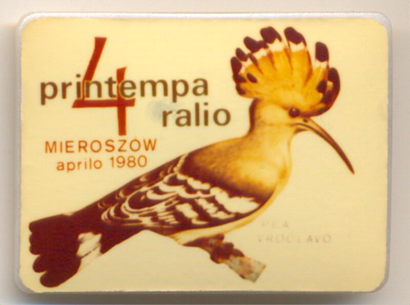 Abzeichen: 4. Printempa Ralio, Mieroszow, aprilo 1980