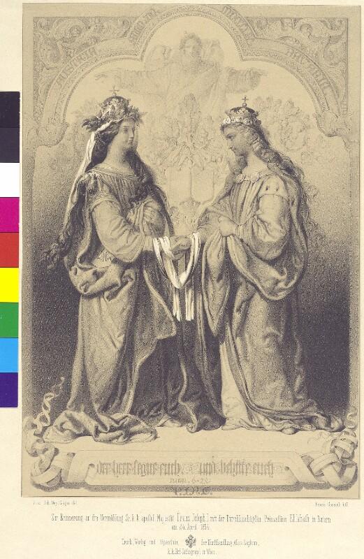 Allegorie auf die Heirat von Kaiser Franz Joseph und Elisabeth