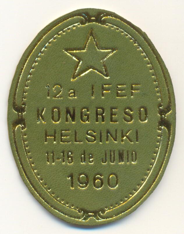 Abzeichen: 12a IFEF-kongreso, Helsinki, 11.-16. de junio 1960
