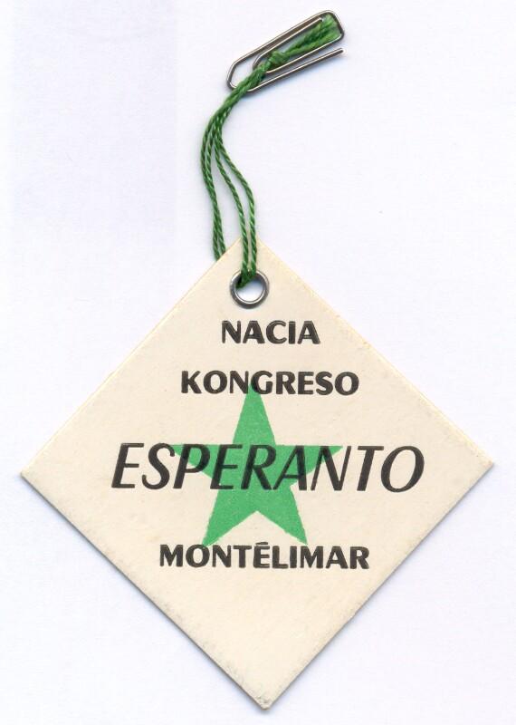 Abzeichen: Nacia Kongreso Esperanto, Montelimar
