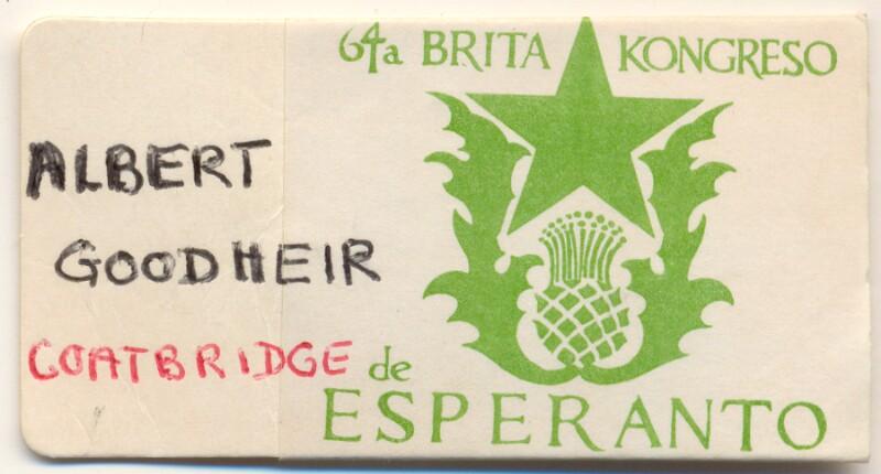 Abzeichen: 64a Brita Kongreso de Esperanto