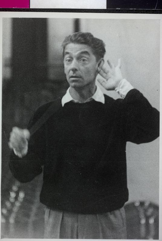 Herbert von Karajan während einer Probe im Juni 1953©Bildarchiv Austria, ÖNB