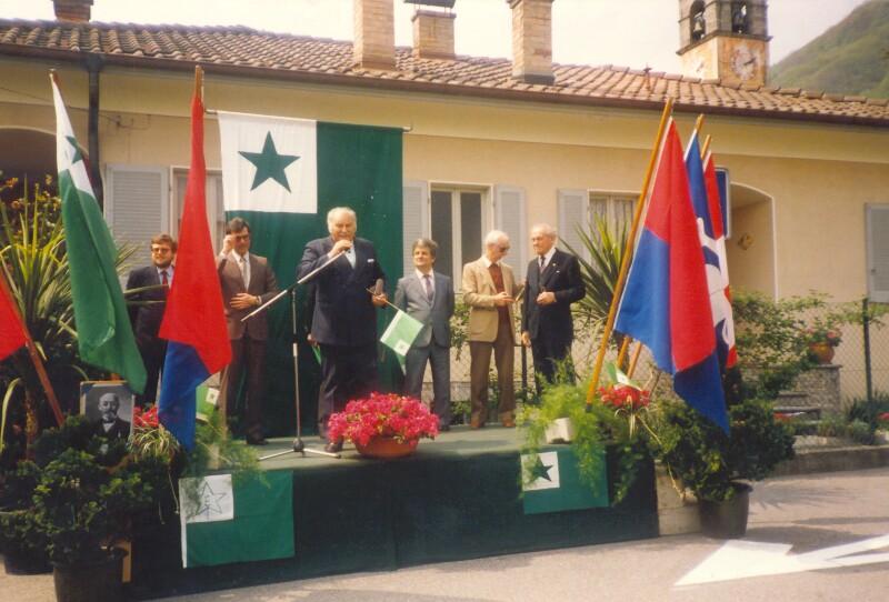 Einweihung des Esperanto-Platzes, Locarno 1985