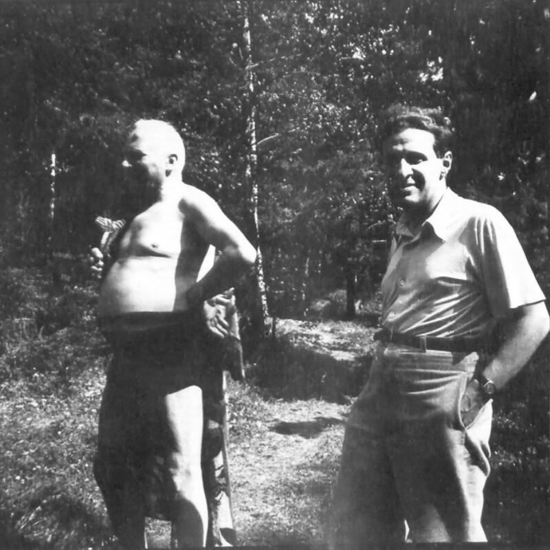 Fritz Ström und Ferenc Szilagyi, um 1945