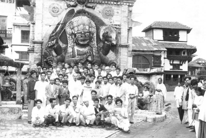 Gründungsversammlung der Esperanto-Gruppe in Kathmandu, 1957