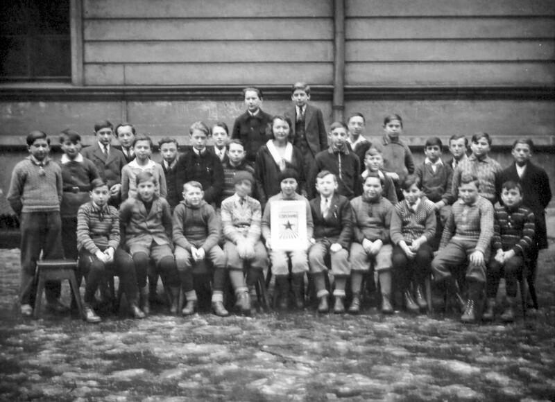 Esperanto-Schüler der Bürgerschule Aussig, 1931