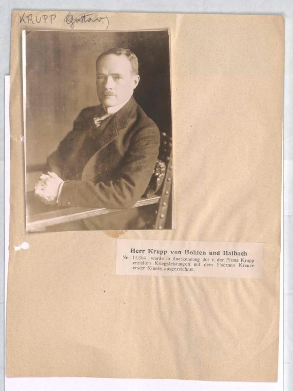 Krupp von Bohlen und Halbach, Gustav Georg Friedrich Marie