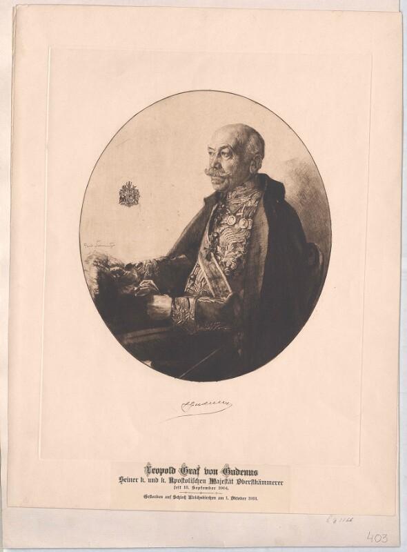 Gudenus, Leopold Graf von