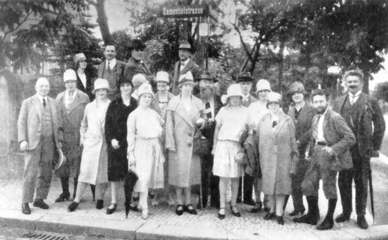 Zamenhofstraße, Dresden um 1925