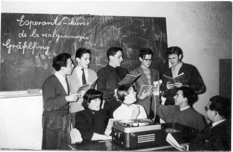 Esperanto-Kurs von Ludwig Thalmaier im Realgymnasium Gräfelfing, München 1957