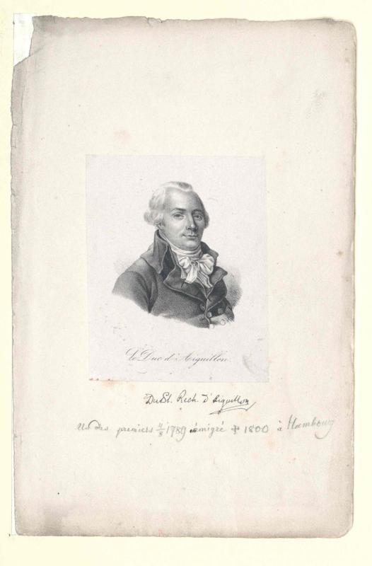 Aiguillon, Emmanuel Armand Duc d´