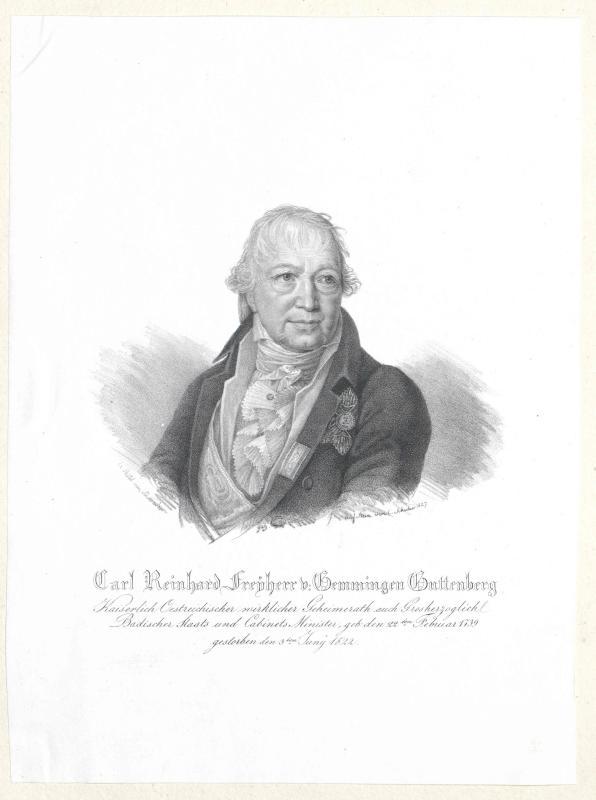 Gemmingen-Guttenberg, Carl Friedrich Reinhard Freiherr von