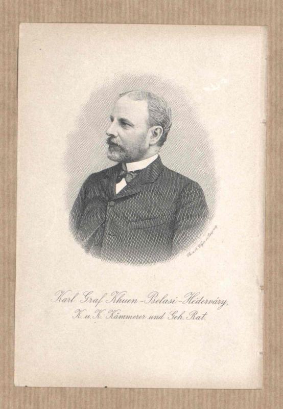 Khuen-Héderváry, Karl Graf
