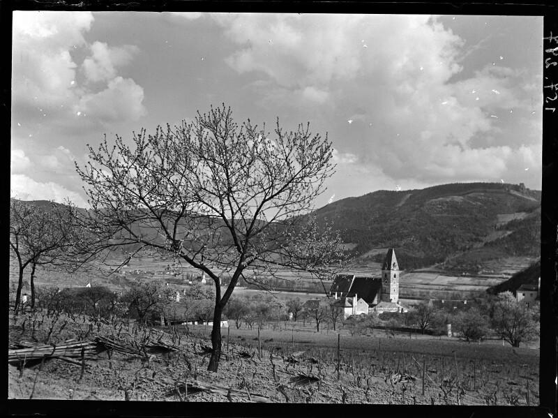 Blick auf Spitz in Niederösterreich, Frühling 1906