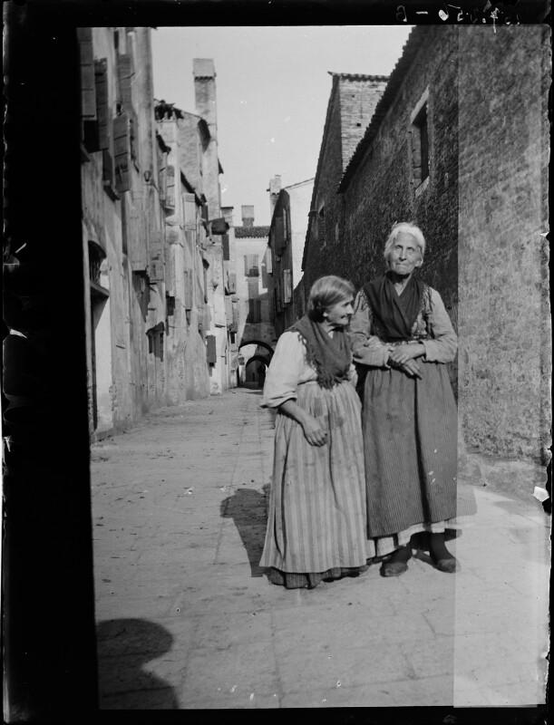 Zwei alte Frauen aus Chioggia, Italien