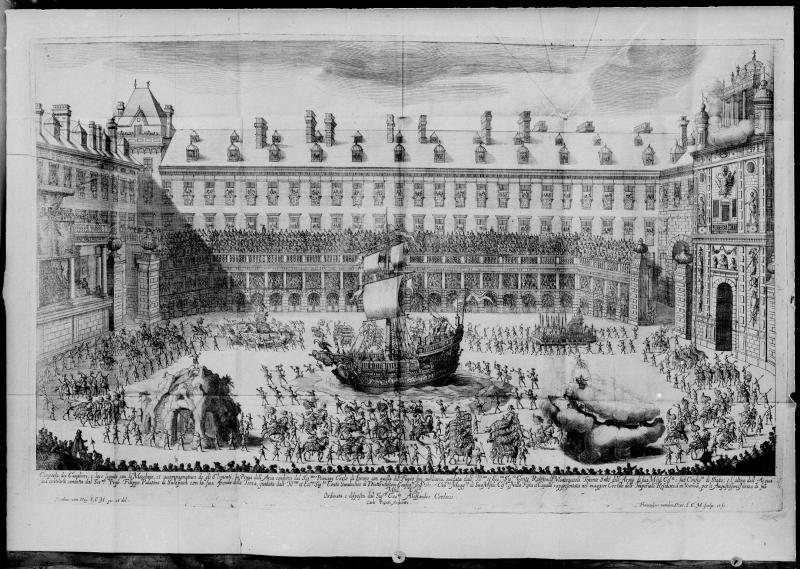Fest im Burghof anlässlich der Vermählung Leopolds I.