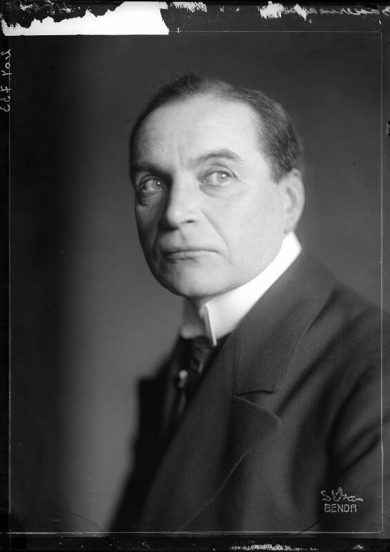 Der Schauspieler Albert Bassermann
