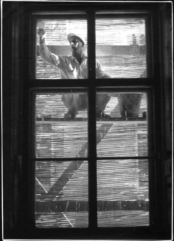Fenster werden gestrichen